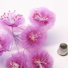 Azalea Organza Summer Blossoms x6